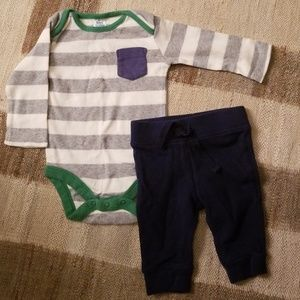 Mini Boden One Pieces - Cute lounge lot, 0-3 mos thermal pants + onesie